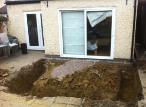 wigston extension - dig out